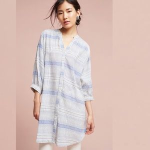 Anthropologie | Maeve Lena Yarn-Dyed Button Tunic